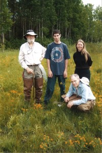 botanists at Allen Creek, June 2008